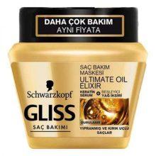 ماسک مو گلیس مدل Ultimate Oil Elixir مناسب موهای آسیب دیده و دارای موخوره